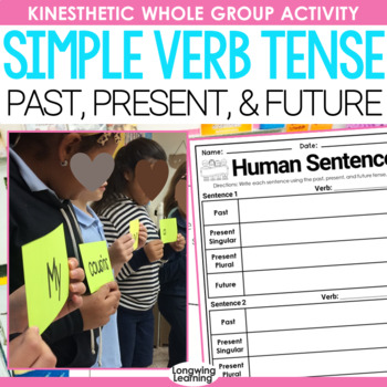 Simple Past, Present and Future Tense Activity Freebie
