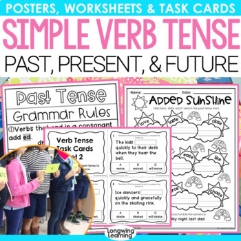 Simple Past, Present and Future Tense Activity Pack