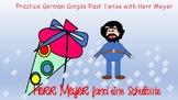Simple Past Tense FUN story in German:  Herr Meyer fand ei