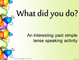 Simple Past Tense - Interactive PowerPoint Game
