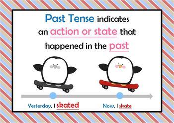 Simple Past Tense of Irregular Verbs Card Set (Snap/Slap, Memory, Match)