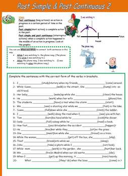 Simple Past and Past Continuous 2- Grammar and excersises.