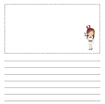 Simple Patriotic Notebooking Pages