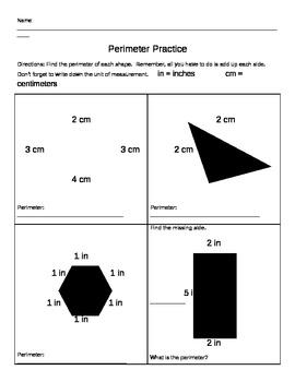 Simple Perimeter Practice