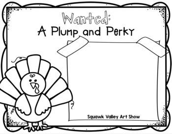 Simple Perky Turkey Simple Glyph Art