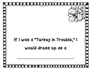 Simple Perky Turkey Glyph Art Kinder Craft- Simple & Easy