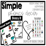 Simple Phonics Posters - Bossy R, Vowel Teams and Diphthongs