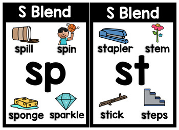 Simple Phonics Posters - Digraphs and Blends