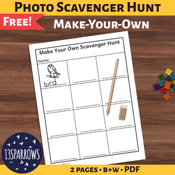 Simple Photo Scavenger Hunt: Make-Your-Own