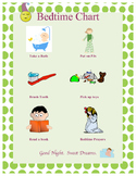 Simple Picture Bedtime Chart for toddlers