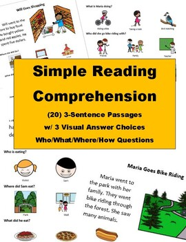 Simple Picture Reading Comprehension
