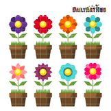 Simple Plants Clip Art - Great for Art Class Projects!