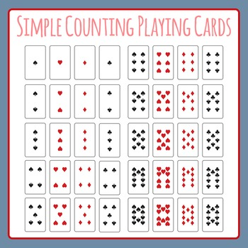 Simple Playing Cards for Counting, Addition and Subtraction Games Clip Art