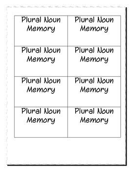 Simple Plural Nouns ending with -es