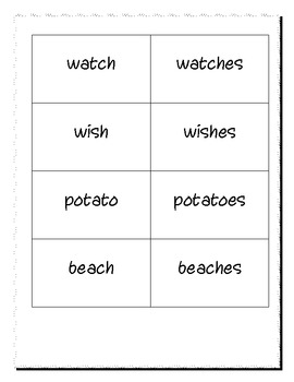 Simple Plural Nouns ending with -s