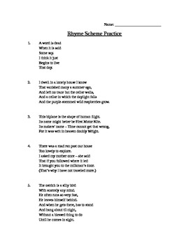 worksheet: Rhyme Scheme Worksheets Practice For All Download And ...