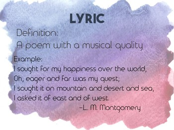 Simple Poetry Elements PowerPoint Presentation/Posters