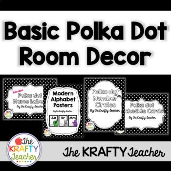 Simple Polkadot Room Decor Bundle