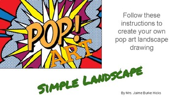 Simple Pop Art Landscape - Step by Step Instructions