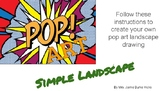 Simple Pop Art Landscape - Step by Step Instructions