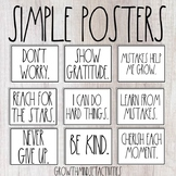 Simple Posters for Motivating and Organizing