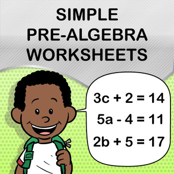 Simple Pre-Algebra Worksheet Maker - Create Infinite Math Worksheets!