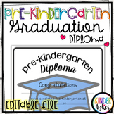 Simple Pre-K Graduation Diploma with EDITABLE file