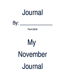 Simple Pre-K Journal cover pages 2016-2017