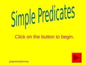 Simple Predicate (Verb) Practice