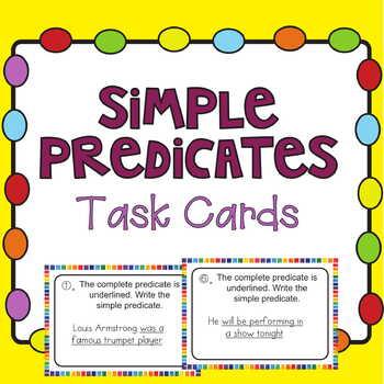 Simple Predicates Task Cards