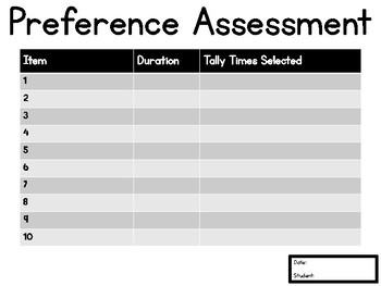 Simple Preference Assessment