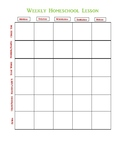 Simple Prek homeschool Lesson Plan Template