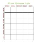 Simple Prek homeschool Lesson Plan Template