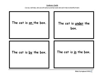 Simple Prepositions: On, In, Under, By