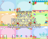Simple Preschool Backgrounds (Lime and Kiwi Designs)