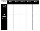 Simple Preschool Lesson Plan Template