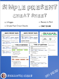 Simple Present Cheat Sheet Reference Guide (NO PREP)