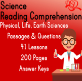 ⭐Science Reading Comprehension Passages and Questions | Bundle