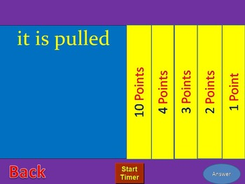 Family fortune game show for Simple Present Passive