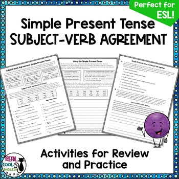 Esl Subject Verb Agreement Teaching Resources Teachers Pay Teachers