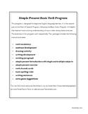 Simple Present Verb Program