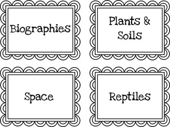 Simple & Pretty Book Bin Labels