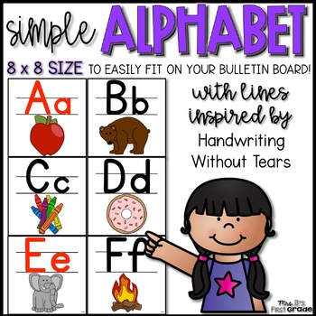 Simple Handwriting Without Tears Alphabet - 8x8 Size!