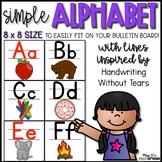 Simple Alphabet - 8x8 Size!