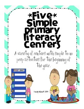 Simple Primary Literacy Centers & Activities *Little to no prep* Reading Street