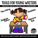 Tools For Writers: Peer Editing Checklist, Feedback Rubric