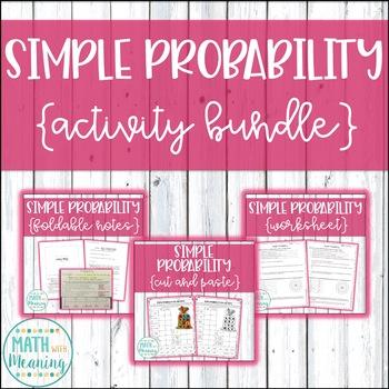 Simple Probability Activity Mini-Bundle