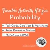 Simple Probability Cart Sort Kit: Ratio/Percent/Decimal  7.SP.7a