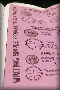 Simple Probability Foldable Notes