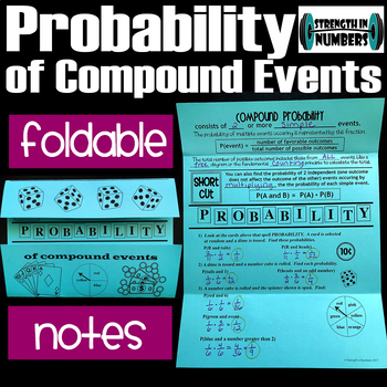 Probability of Compound Events Foldable Notes for Interactive Notebook